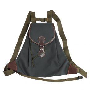 Zurrón de lona-sarga con bolsillo en parte posterior