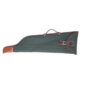 Funda para escopeta paralela desmontada en lona-nylon con forro interior de borreguillo