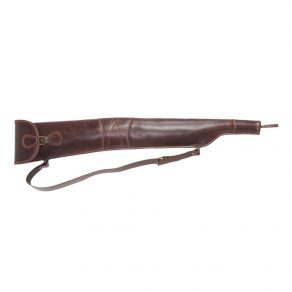 Funda para rifle corto sin visor en piel de bovino, porta escopetas en piel