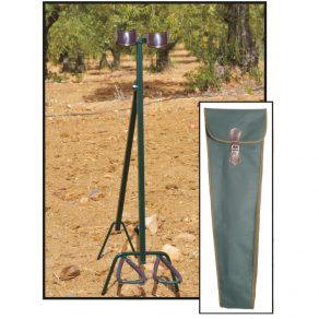 Reposa armas fabricado en tubos de hierro lacado