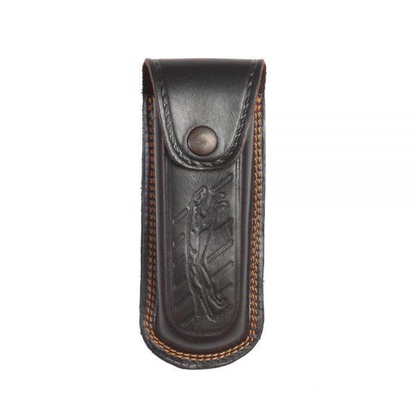 Funda de navajapara cinturón en piel de bovino con grabado