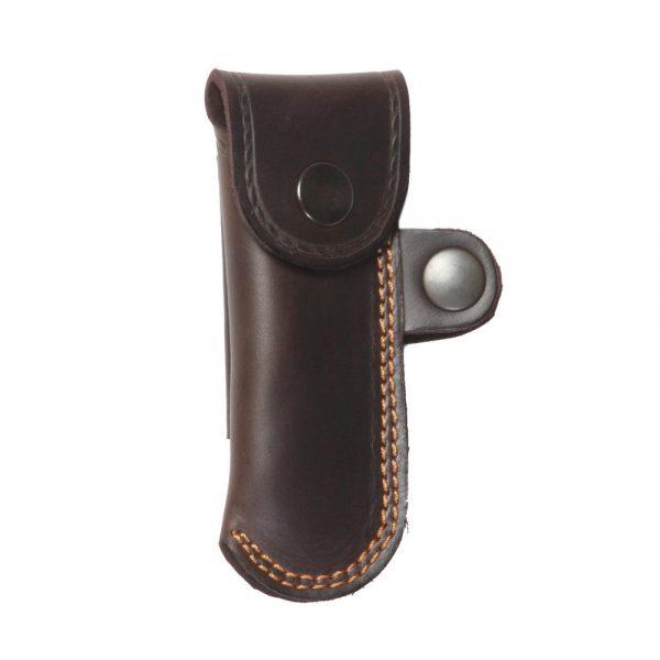 Funda de navaja para cintuón en piel de bovino sujeción horizontal