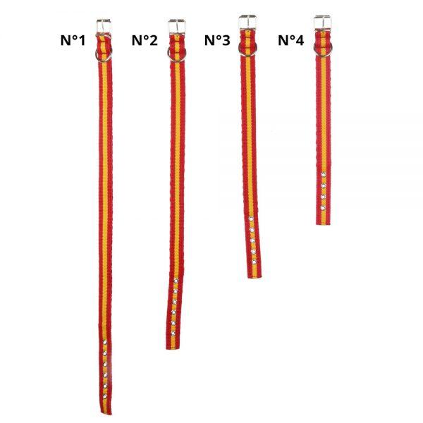 Collar para perro en cinta de Nylon doble capa con funda posterior para introducir el collar antiparasitario