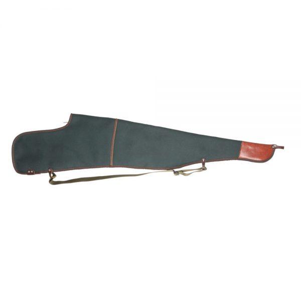 Funda para rifle-visor en lona-nylon con forro interior de borreguillo, cierre de cremallera y porta