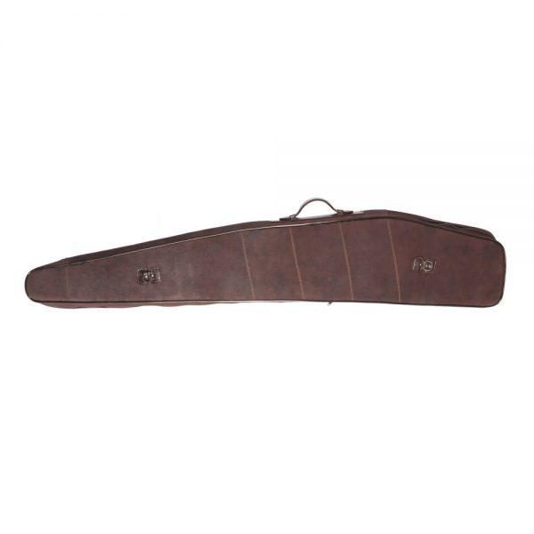 Funda para rifle-visor en serraje engrasado con interior acolchado (cajón), cierre de cremallera metálica, medidas disponibles